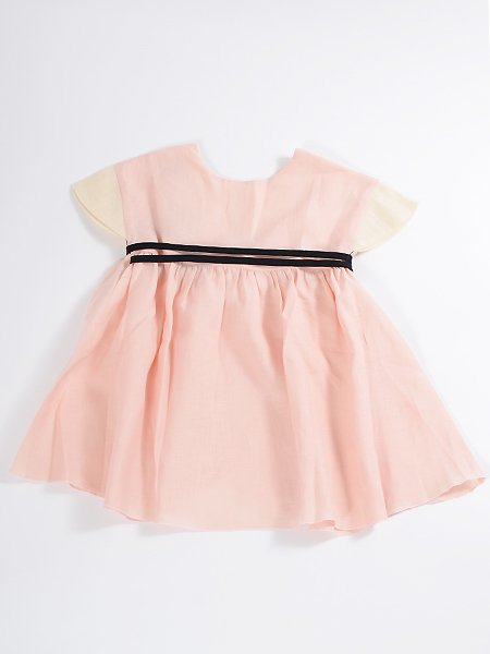 <img class='new_mark_img1' src='//img.shop-pro.jp/img/new/icons8.gif' style='border:none;display:inline;margin:0px;padding:0px;width:auto;' />Popelin ポペリン Pink reversible dress with Japanese sleeve リバーシブルワンピース