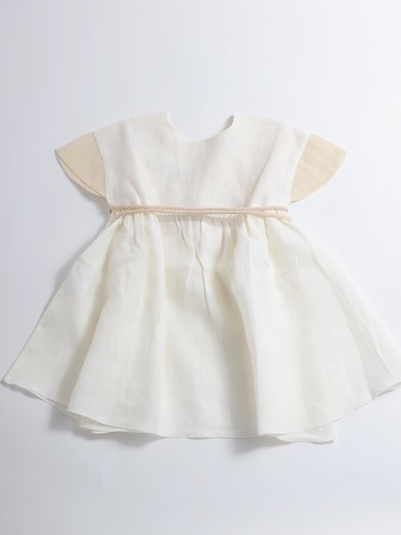 <img class='new_mark_img1' src='//img.shop-pro.jp/img/new/icons8.gif' style='border:none;display:inline;margin:0px;padding:0px;width:auto;' />Popelin ポペリン White reversible dress with Japanese sleeve リバーシブルワンピース