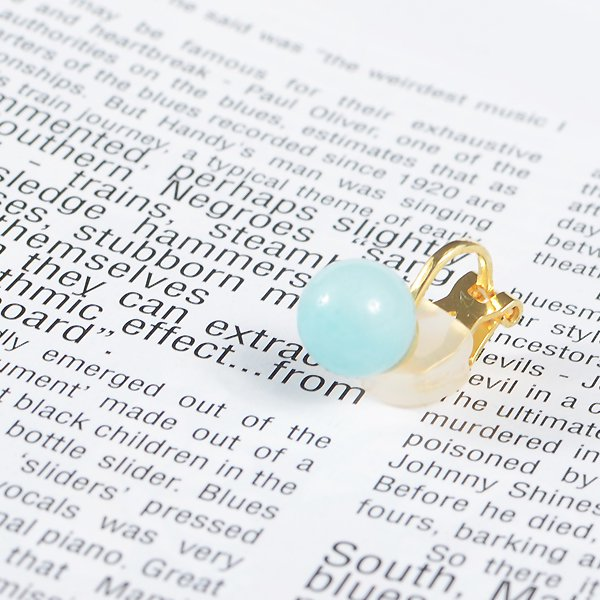 <img class='new_mark_img1' src='https://img.shop-pro.jp/img/new/icons8.gif' style='border:none;display:inline;margin:0px;padding:0px;width:auto;' />UI. ウイ maru earring マルイヤリング ブルー