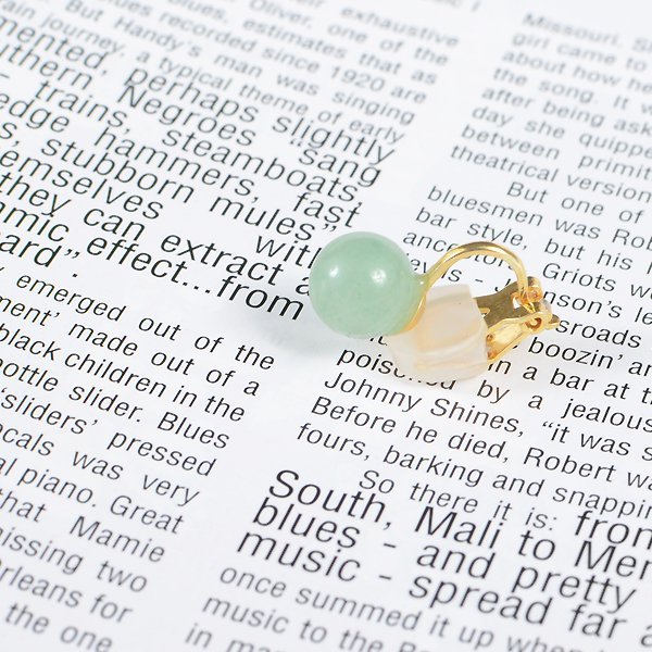 <img class='new_mark_img1' src='https://img.shop-pro.jp/img/new/icons8.gif' style='border:none;display:inline;margin:0px;padding:0px;width:auto;' />UI. ウイ maru earring マルイヤリング グリーン