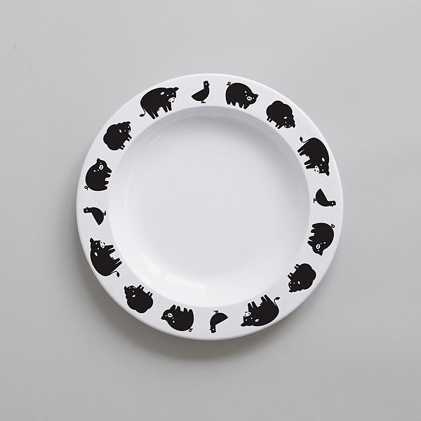 <img class='new_mark_img1' src='https://img.shop-pro.jp/img/new/icons8.gif' style='border:none;display:inline;margin:0px;padding:0px;width:auto;' />BUDDYANDBEAR バディーアンドベアー Farm Animal Plate (Black) ファームアニマル プレート