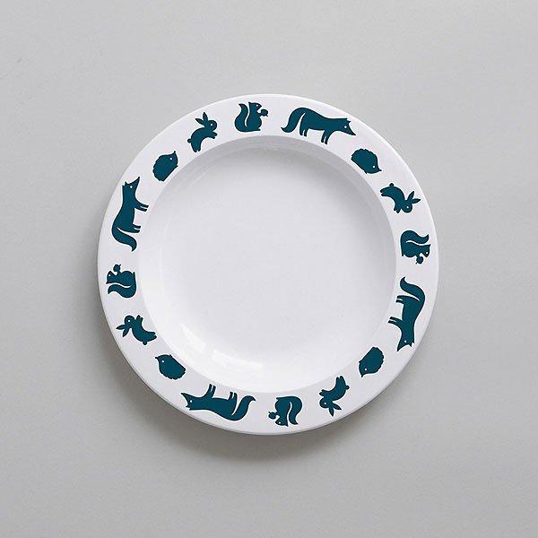 <img class='new_mark_img1' src='https://img.shop-pro.jp/img/new/icons8.gif' style='border:none;display:inline;margin:0px;padding:0px;width:auto;' />BUDDYANDBEAR バディーアンドベアー Woodland Animal Plate (Ink)ウッドランドアニマル プレート