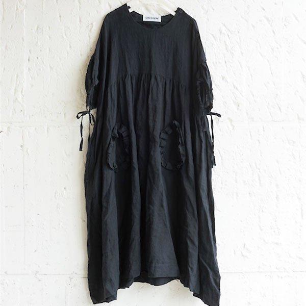 <img class='new_mark_img1' src='https://img.shop-pro.jp/img/new/icons8.gif' style='border:none;display:inline;margin:0px;padding:0px;width:auto;' />UNIONINI ユニオニーニ linen big dress リネンビッグワンピース ブラック