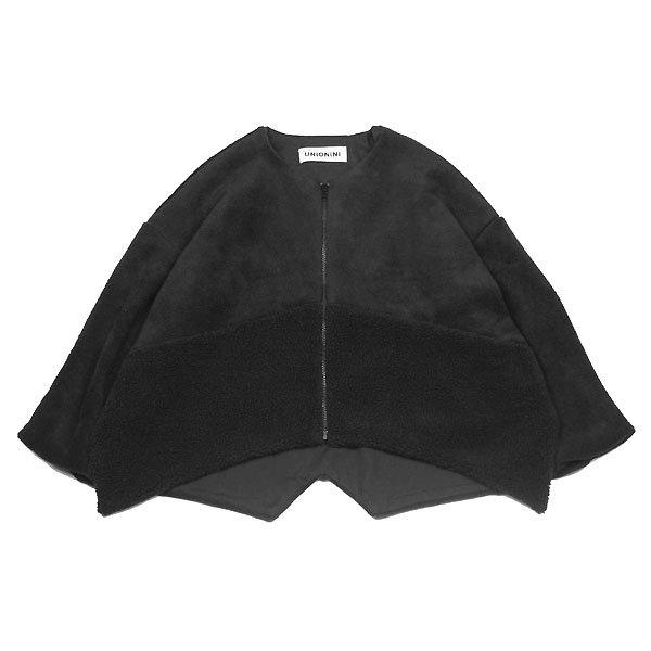 <img class='new_mark_img1' src='https://img.shop-pro.jp/img/new/icons8.gif' style='border:none;display:inline;margin:0px;padding:0px;width:auto;' />UNIONINI ユニオニーニ fleece jacket フリースジャケット ブラック