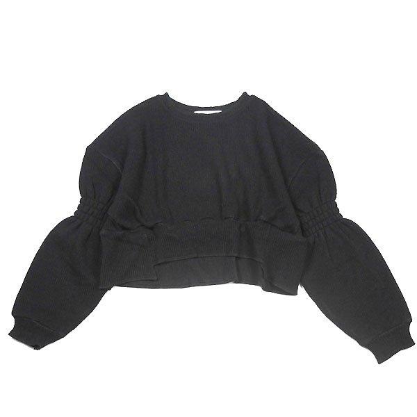 <img class='new_mark_img1' src='https://img.shop-pro.jp/img/new/icons8.gif' style='border:none;display:inline;margin:0px;padding:0px;width:auto;' />UNIONINI ユニオニーニ rich knit short pullover リッチニットショートプルオーバーニット ブラック