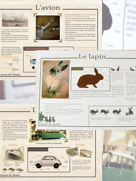 <img class='new_mark_img1' src='//img.shop-pro.jp/img/new/icons8.gif' style='border:none;display:inline;margin:0px;padding:0px;width:auto;' />Lecons de choses ルコンドショセス Poster ポスター CAR・PLANE・RABBIT