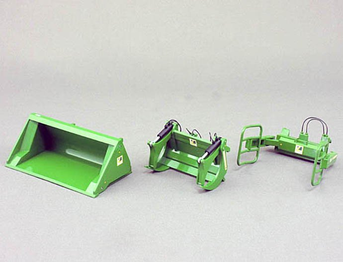 Wiking 1/32 FrontLoader Set A (JohnDeere Green)