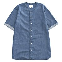 <img class='new_mark_img1' src='//img.shop-pro.jp/img/new/icons49.gif' style='border:none;display:inline;margin:0px;padding:0px;width:auto;' />VICTIM - NO COLLAR DENIM SHIRTS