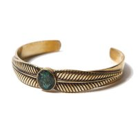 <img class='new_mark_img1' src='//img.shop-pro.jp/img/new/icons49.gif' style='border:none;display:inline;margin:0px;padding:0px;width:auto;' />CALEE - TURQUOISE BANGLE <BRASS>
