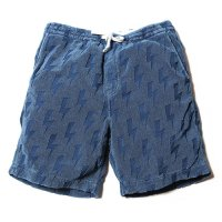 <img class='new_mark_img1' src='//img.shop-pro.jp/img/new/icons49.gif' style='border:none;display:inline;margin:0px;padding:0px;width:auto;' />CALEE - Indigo jacquard pile short pants
