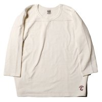 <img class='new_mark_img1' src='//img.shop-pro.jp/img/new/icons49.gif' style='border:none;display:inline;margin:0px;padding:0px;width:auto;' />CALEE - 3/4 Sleeve v neck foot ball t-shirt