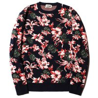 <img class='new_mark_img1' src='//img.shop-pro.jp/img/new/icons5.gif' style='border:none;display:inline;margin:0px;padding:0px;width:auto;' />CALEE - Jacquard flower pattern crew neck knit sweater