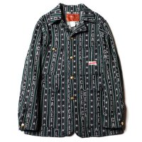 <img class='new_mark_img1' src='//img.shop-pro.jp/img/new/icons5.gif' style='border:none;display:inline;margin:0px;padding:0px;width:auto;' />CALEE - Jacquard logo stripe denim coverall