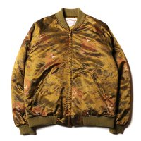<img class='new_mark_img1' src='//img.shop-pro.jp/img/new/icons49.gif' style='border:none;display:inline;margin:0px;padding:0px;width:auto;' />CALEE - Praffin satin tiger pattern rib jacket