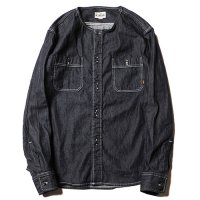 <img class='new_mark_img1' src='//img.shop-pro.jp/img/new/icons5.gif' style='border:none;display:inline;margin:0px;padding:0px;width:auto;' />CALEE - No collar L/S denim shirt