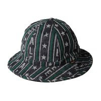 <img class='new_mark_img1' src='//img.shop-pro.jp/img/new/icons5.gif' style='border:none;display:inline;margin:0px;padding:0px;width:auto;' />CALEE - Jacquard logo stripe denim metro hat