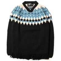 <img class='new_mark_img1' src='//img.shop-pro.jp/img/new/icons5.gif' style='border:none;display:inline;margin:0px;padding:0px;width:auto;' />CALEE - V neck fringe wool knit sweater