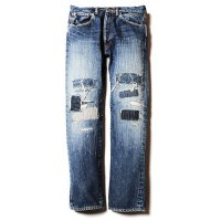 <img class='new_mark_img1' src='//img.shop-pro.jp/img/new/icons5.gif' style='border:none;display:inline;margin:0px;padding:0px;width:auto;' />CALEE - Crash repair tapered slim denim