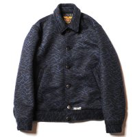 <img class='new_mark_img1' src='//img.shop-pro.jp/img/new/icons49.gif' style='border:none;display:inline;margin:0px;padding:0px;width:auto;' />CALEE - Double jacquard wave pattern sports jacket