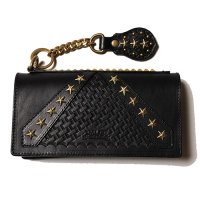 <img class='new_mark_img1' src='//img.shop-pro.jp/img/new/icons49.gif' style='border:none;display:inline;margin:0px;padding:0px;width:auto;' />CALEE - Rebel frag studs leather long wallet