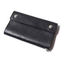 <img class='new_mark_img1' src='//img.shop-pro.jp/img/new/icons5.gif' style='border:none;display:inline;margin:0px;padding:0px;width:auto;' />CALEE - Silver star concho flap leather long wallet