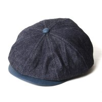 <img class='new_mark_img1' src='//img.shop-pro.jp/img/new/icons49.gif' style='border:none;display:inline;margin:0px;padding:0px;width:auto;' />CALEE - Indigo leather Denim casquette