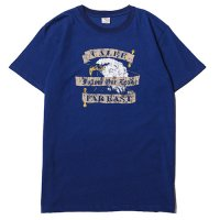 <img class='new_mark_img1' src='//img.shop-pro.jp/img/new/icons5.gif' style='border:none;display:inline;margin:0px;padding:0px;width:auto;' />CALEE - Indigo blue eagle t-shirt