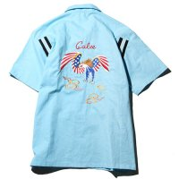 <img class='new_mark_img1' src='//img.shop-pro.jp/img/new/icons5.gif' style='border:none;display:inline;margin:0px;padding:0px;width:auto;' />CALEE - Eagle embroidery S/S bowling shirt