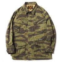 <img class='new_mark_img1' src='//img.shop-pro.jp/img/new/icons49.gif' style='border:none;display:inline;margin:0px;padding:0px;width:auto;' />CALEE - TIGER CAMO MILITARY JACKET