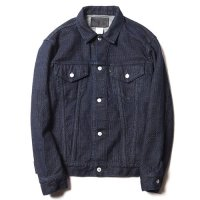 <img class='new_mark_img1' src='//img.shop-pro.jp/img/new/icons5.gif' style='border:none;display:inline;margin:0px;padding:0px;width:auto;' />CALEE - STITCHED JACQUARED 3rd TYPE DENIM JACKET