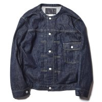 <img class='new_mark_img1' src='//img.shop-pro.jp/img/new/icons5.gif' style='border:none;display:inline;margin:0px;padding:0px;width:auto;' />CALEE - 1st type no collar denim jacket