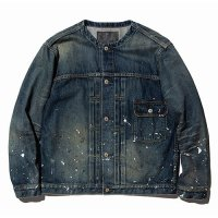 <img class='new_mark_img1' src='//img.shop-pro.jp/img/new/icons5.gif' style='border:none;display:inline;margin:0px;padding:0px;width:auto;' />CALEE - Used 1st type no collar denim jacket