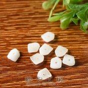 アクリルビーズ スペーサー チップ 約3×7.5mm ホワイト マーブル 白色 約10個 ビーズ パーツ アクリル ビーズパーツ さざれ 通し穴