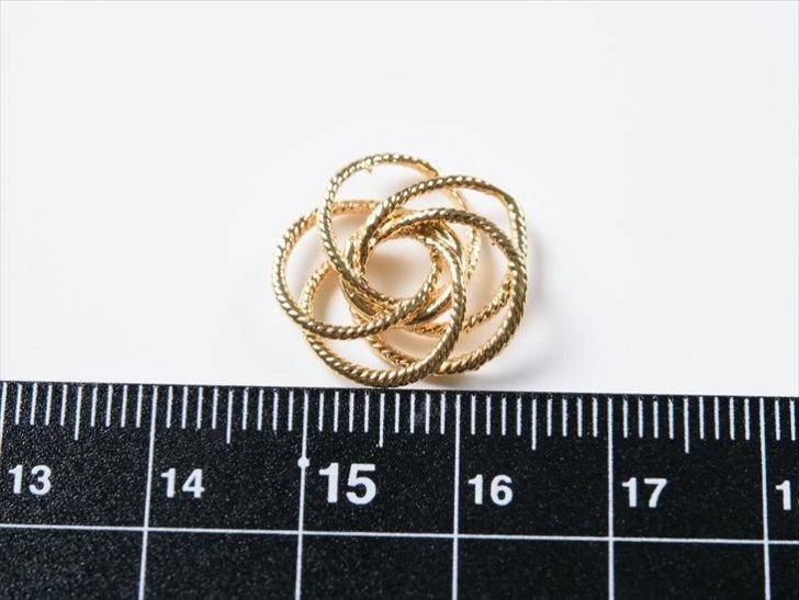a295f4156e07dc チャーム 5つのデザインリングのつなぎパーツ ゴールド 17.7mm 1個 アクセサリーチャーム ピアス イヤリング ネックレス 約1.8cm アクセサリーパーツ  パーツ ...