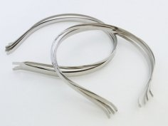 ハンドメイド用カチューシャ10個セット/銀/ねこ耳、リボン付きなど手作りカチューシャ用に