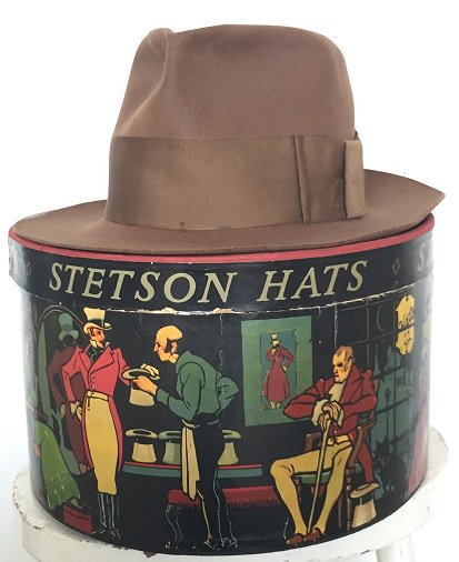 #65 1920s Antique Stetson Gold medal /71/4 ブラウン 57.5cm