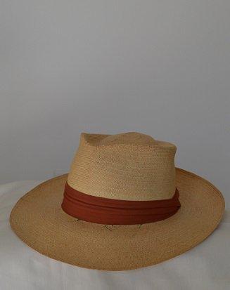 #75 50s PANAMA HAT DAYTON MENS STORE 73/8 58.5cm   UNION MADE