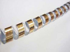 メタリックスパイラルチューブ 10mm×1500mm ゴールド