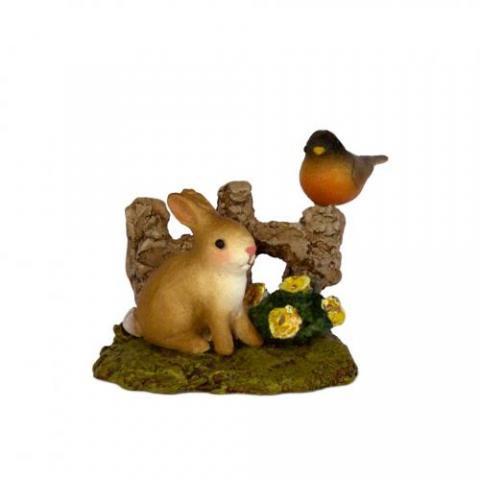 Spring Bunny & Robin Wee Forest  Folk