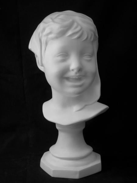 在庫限定処分品40%オフ A−401 笑う少年(頭巾)首像