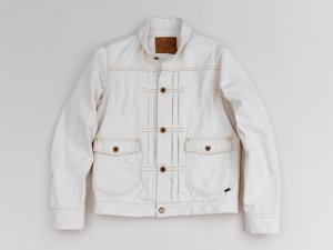 <img class='new_mark_img1' src='//img.shop-pro.jp/img/new/icons14.gif' style='border:none;display:inline;margin:0px;padding:0px;width:auto;' />【GERUGA】ゲルガ ROUND COLLAR DENIM JUMPER (ECRU)