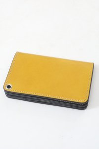 <img class='new_mark_img1' src='//img.shop-pro.jp/img/new/icons14.gif' style='border:none;display:inline;margin:0px;padding:0px;width:auto;' />【GERUGA】ゲルガ LEATHER WALLET -MIDDLE- (YELLOW/SILVER)
