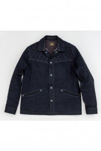 <img class='new_mark_img1' src='//img.shop-pro.jp/img/new/icons14.gif' style='border:none;display:inline;margin:0px;padding:0px;width:auto;' />【GERUGA】ゲルガ PADDED DENIM JACKET (BK/BK)