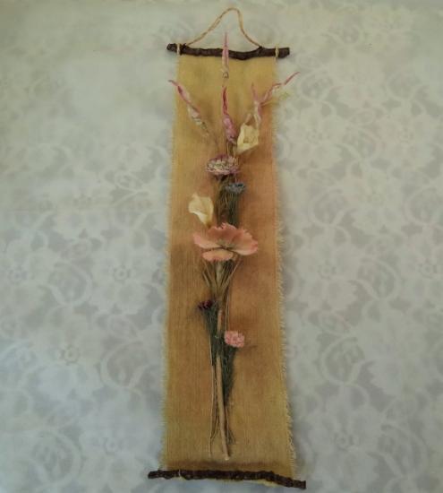布花タペストリー(豆枝、ミニカラー、なでしこ)