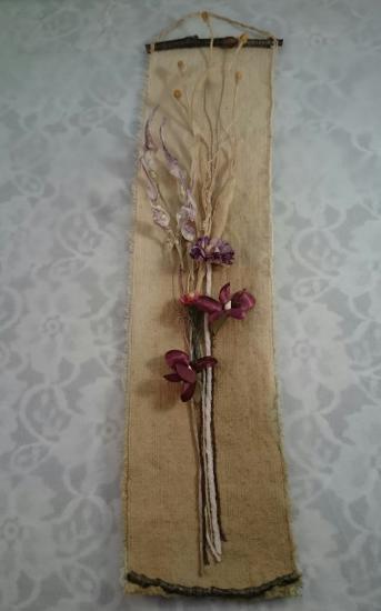 布花のタペストリー(マーガレット/豆枝...