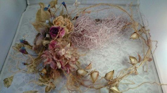 布花リース(盛りだくさんの花々/8種以上)