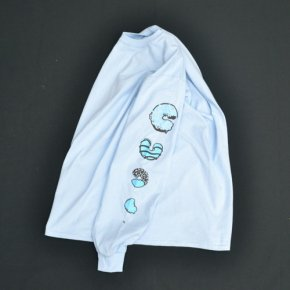SIESTA(シエスタ)Original Aaron Long Sleeve Tee Shirt Light Blue