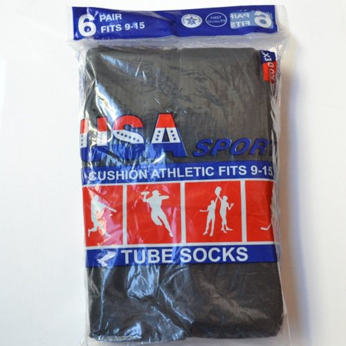 USA Sport Tube Socks Black