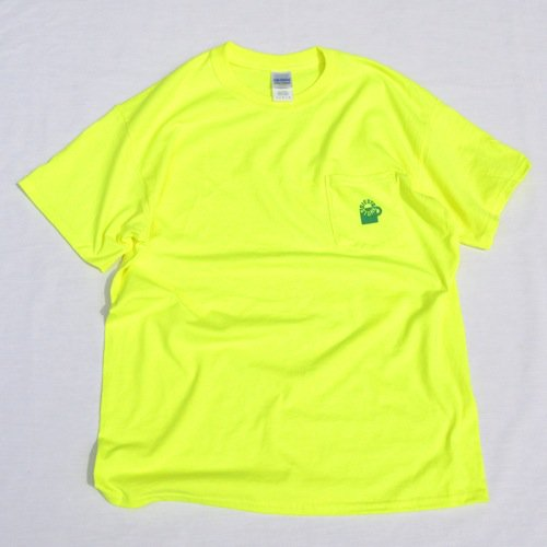 SIESTA(シエスタ)Original Aaron Pocket Tee Shirt Safety Green