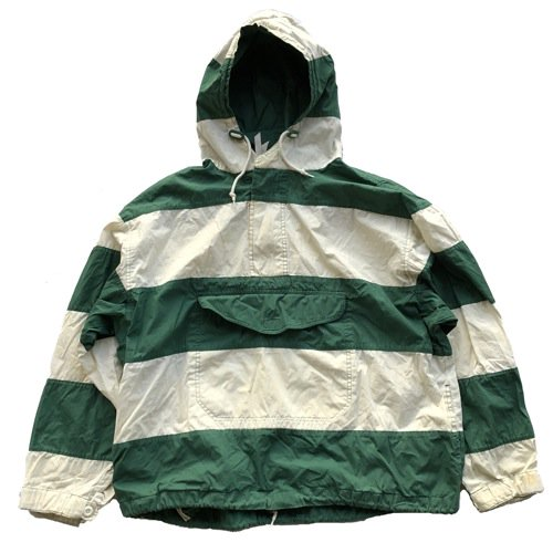 GAP(ギャップ)Cotton Anorak Green x White